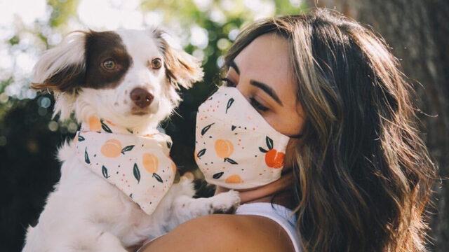 DOG BANDANA AND FACE MASK PAIR