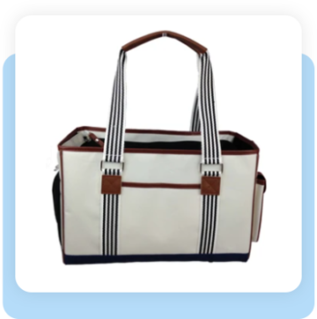 FASHION 'YACHT POLO' PET CARRIER – AS DISPLAYED