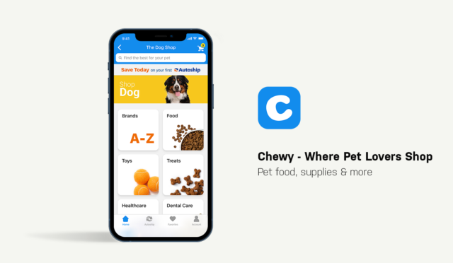 Dog Apps for Smartphones Chewy App Showcase