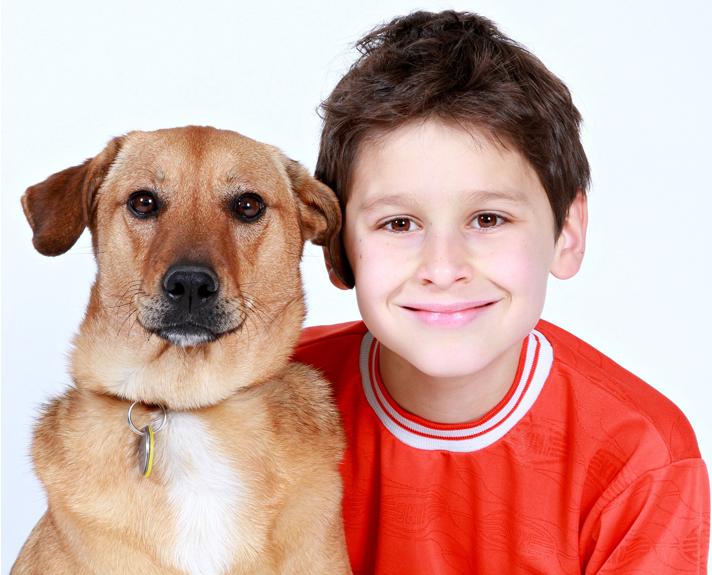ILMDSM boy dog support