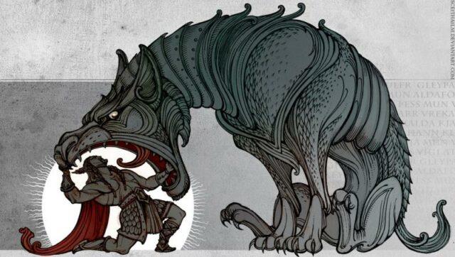 celebrity dog mythology fenrir