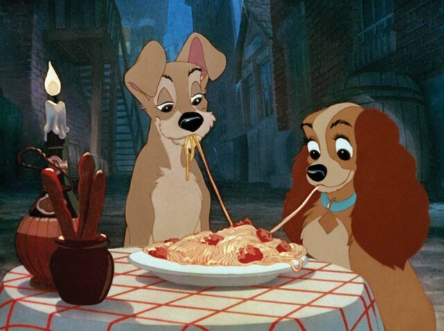 scene Lady and the Tramp - animated dog movies