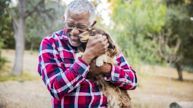 Elderly dog owners